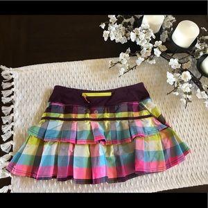Lululemon Skort Skirt 4 Small plaid Tennis Golf
